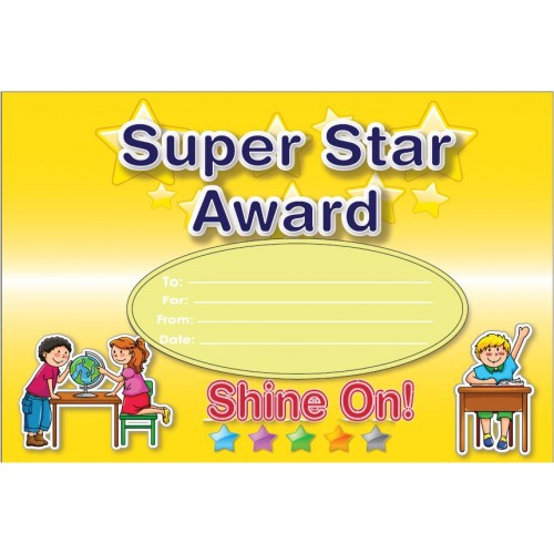 super star award certificate awards certificates incentives gt