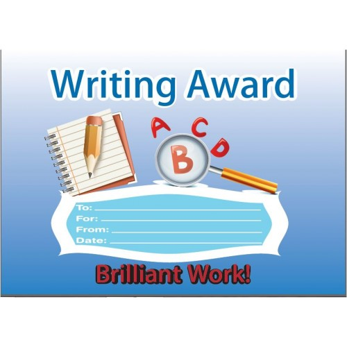 Writing award certificate awards certificates incentives gt writing award certificate yadclub Gallery