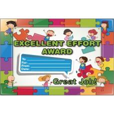 Excellent Effort Award Certificate