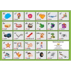 Blends and Digraphs Card